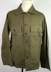WWII-US-ARMY-TYPE-II-HBT-COMBAT-FIELD-JACKET-SMALL