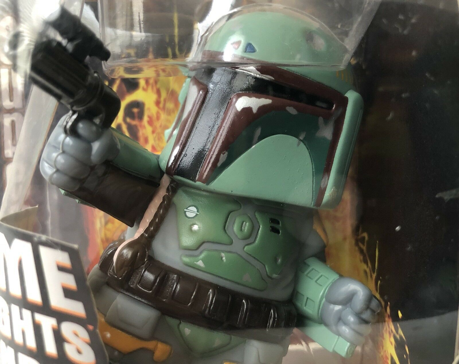 Star Wars Wars Wars Super D Boba Fett Lights & Sounds 2005 New 49f8a3