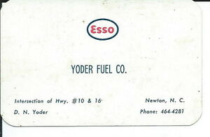 Aa 043 yoder fuel co newton nc esso service gas business card image is loading aa 043 yoder fuel co newton nc esso reheart Choice Image