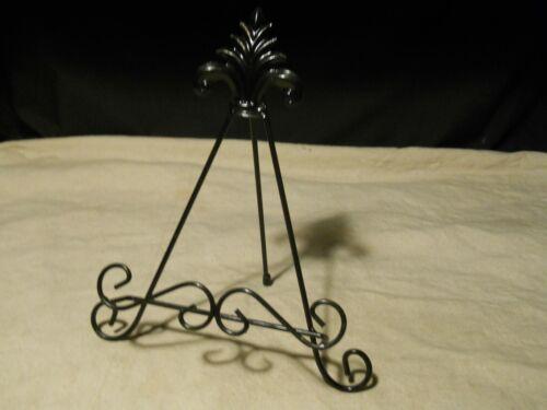 Metal Decorative Display Plate Art Book Easel ~ Black