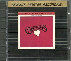 Carpenter-the-a-song-for-you-MFSL-Gold-CD-ui-Japon-erstpressung-udcd-525