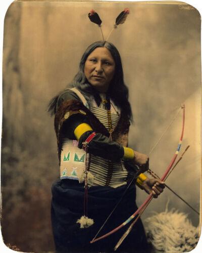 1899 Shout At Oglala Sioux Native American Indian Wall Art Poster Print Decor