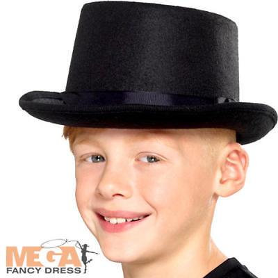 Black Top Hat Kids Costume Gangster Ragazzi Ragazze Per Bambini Costume Acccessory-mostra Il Titolo Originale