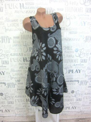 Nouveau Robe d/'été Hängerchen plage robe tunique IBIZA BOHO 42 44 46 Noir 705