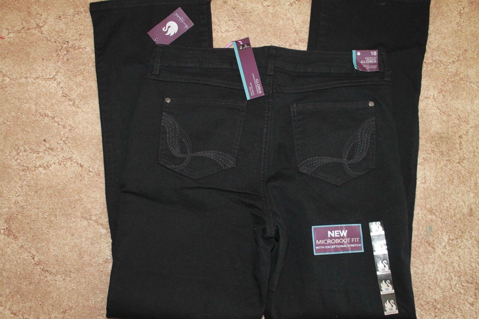 f47c528481168 Gloria Vanderbilt Women s Microboot Jeans Black Size 16 Short