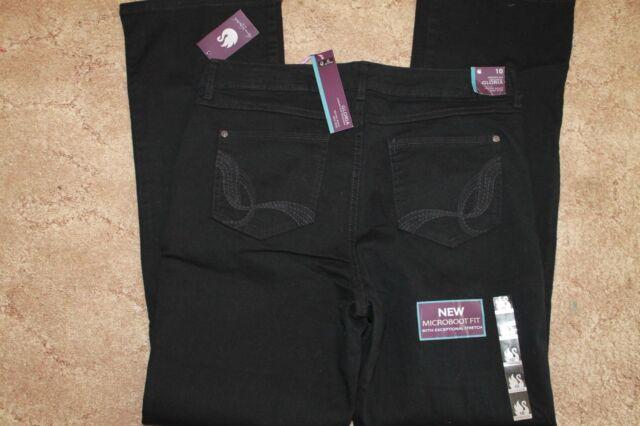 cf5b9823f2b Gloria Vanderbilt Ladies Size 6 Average Micro Bootcut Jeans Black ...