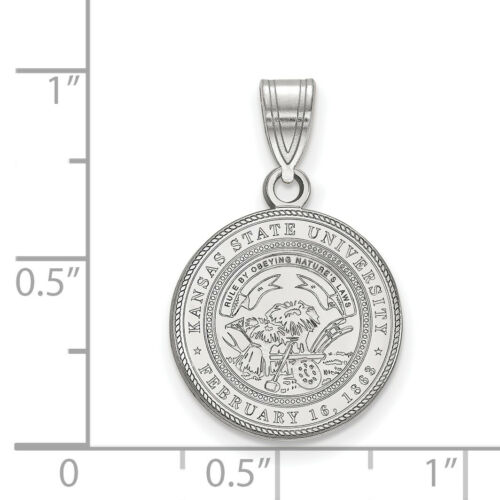 Details about  /Kansas State University Wildcats School Seal Charm Pendant in Sterling Silver
