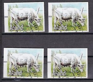 Briefmarken Diverse Philatelie 12 Aland Gestempelt 2001 Automatenmarken Minr