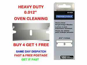 100-PERSONNA-61-0121-SINGLE-EDGE-RAZOR-SCRAPER-BLADES-0-012-034-For-Oven-Cleaning