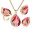 Women-Heart-Pendant-Choker-Chain-Crystal-Rhinestone-Necklace-Earring-Jewelry-Set thumbnail 55