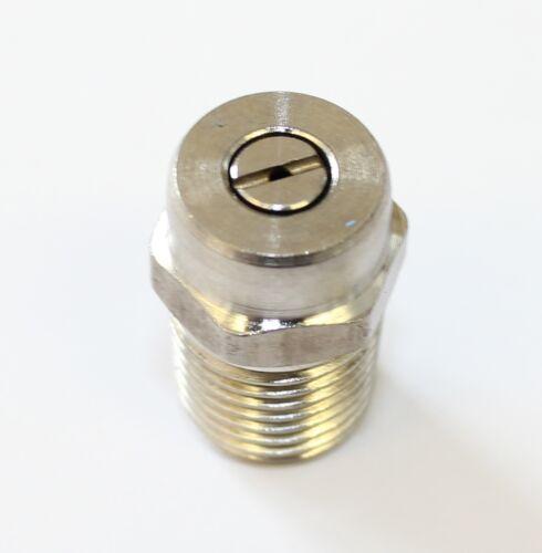 """Conjunto de 4 X 045 Acero Inoxidable 1//4/"""" BSP boquillas de alta presión 0 ° 40 ° 15 ° 25 °"""