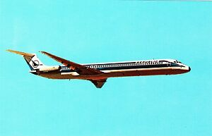 McDonnell-Douglas-DC-9-Super-80-Ansichtskarte