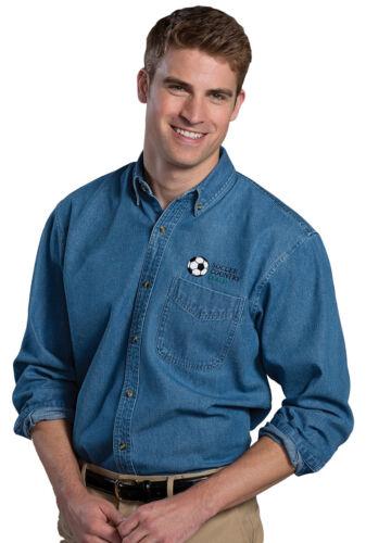 1090 Edwards Garment Men/'s Long Sleeve Button Down 100/% Cotton Denim Shirt