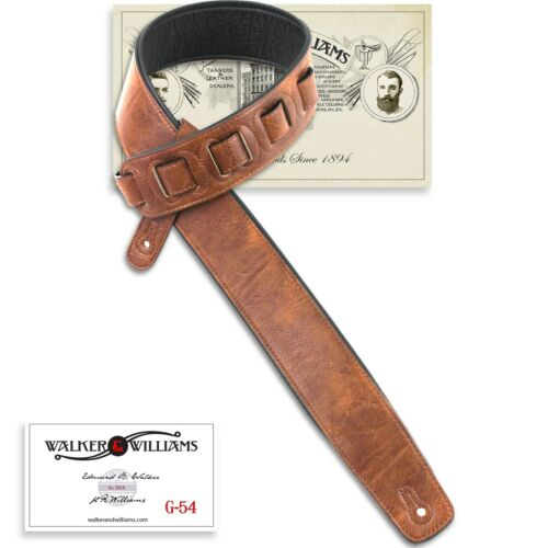 Walker /& Williams G-54 Rich Chestnut Padded Strap with Soft Glove Leather Back