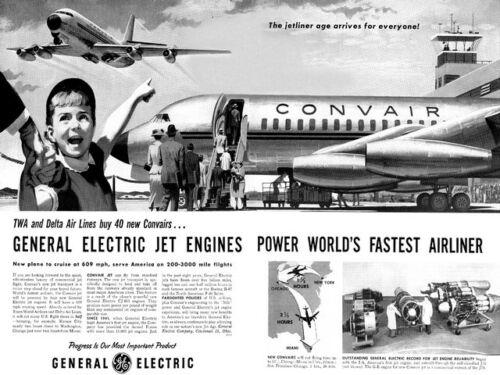 Convair Travel advertising Poster reproduction