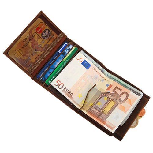 Branco Herren Geldbörse Leder Herrenbörse Gelbeutel Dollarclip Geldclip 49795