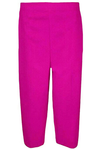 Ladies 3//4 Trousers Womens Elasticated Waist Office Capri Shorts Cropped Pants