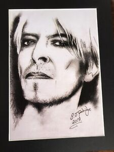 David-Bowie-original-Art-S8-14-034-x-11-034-A4-Mounted-Print