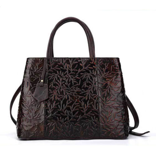 New Women/'s Tote Handbag Genuine Embossed Leather Shoulder Crossbody Ladies Bag