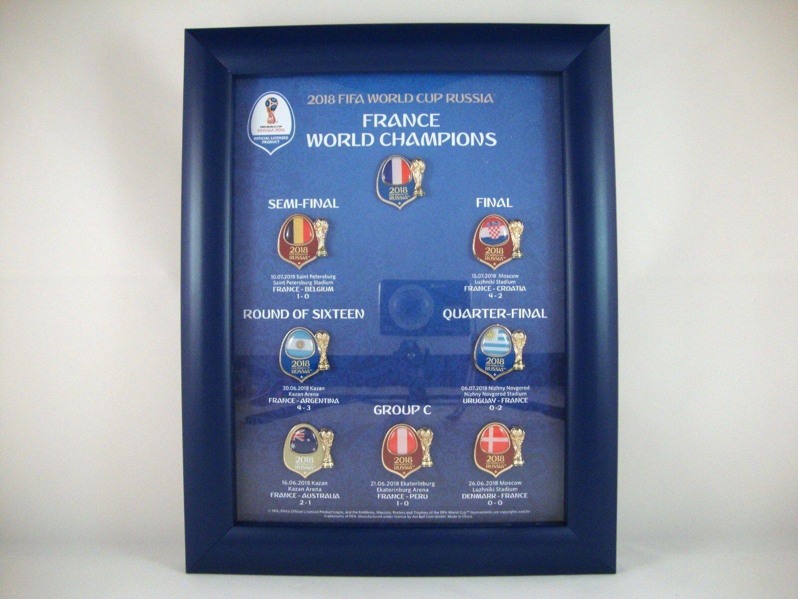 Pin-Rahmen  France World Champions  FIFA World-Cup World-Cup World-Cup 2018 Russia tm Russland Badge  | Export  3caa05