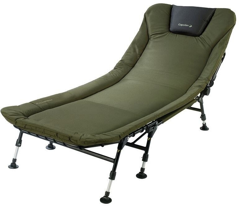 FULLBREAK Carp Fishing Bed Chair - Quilted Headrest For Greater Comfort 110 kg