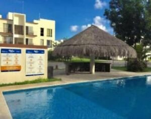 Departamento en Venta amueblado en Misión las Flores Playa del Carmen R06021