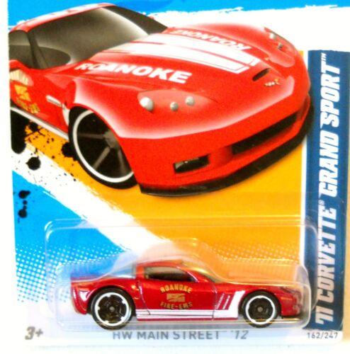 2012 Hot Wheels HW MAIN STREET #162 ∞ '11 CORVETTE GRAND SPORT ∞ RED ROANOKE