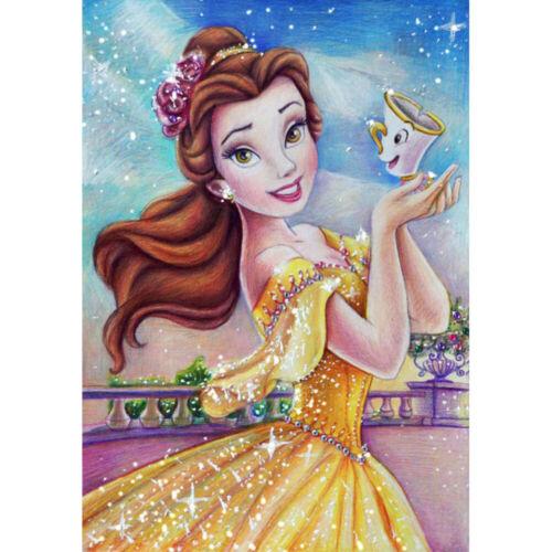 5D Trapano Diamante PITTURA completo ricamo punto croce kit principessa UK STOCK