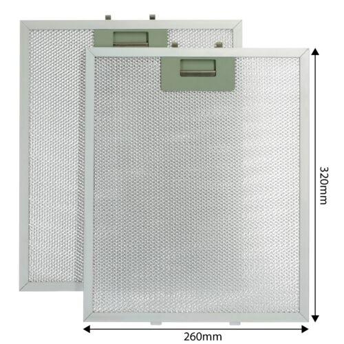 2 x 320 x 260 mm ALLUMINIO CAPPA FORNO ESTRATTORE VENTOLA Filtri Per Flavel