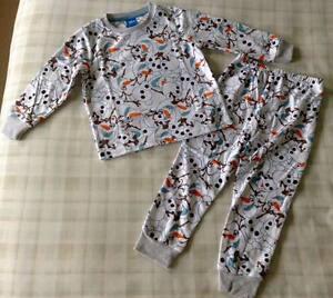 516d159dd3 Disney Frozen ~ Girls White Olaf Print Fleece Twosie Pyjamas PJ s ...