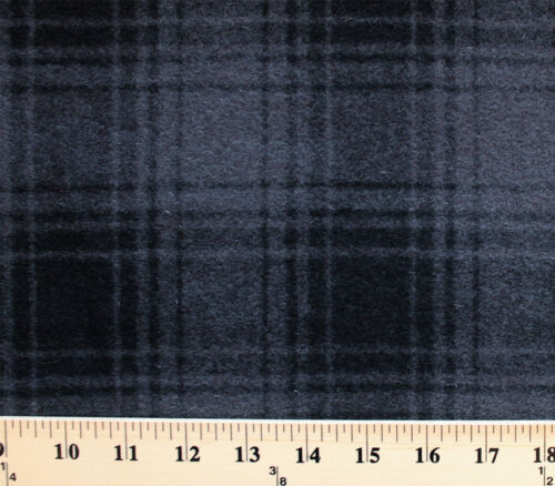 "Wool Plaid Black//Gray Grey 60/"" Wide Wool Blend Fabric by the Yard D383.05"