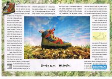PUBLICITE ADVERTISING 054  1993  DECATHLON   chaussures de marche ( 2 pages)