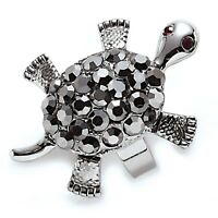 Park Lane snappy Turtle Ring - Hematite Crystals - Orig.$67 - Sz 7 Movable
