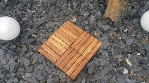 1m² Akazien-Holzfliesen Terrassenfliesen Bodenfliesen Balkonfliese 30 x 30cm NEU