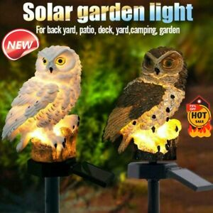 Solar-Garden-Lights-Owl-Ornament-Animal-Bird-Outdoor-LED-Decor-Sculpture
