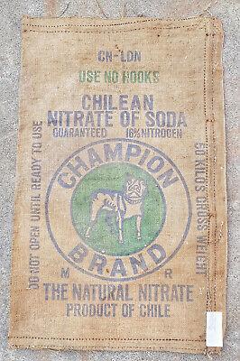 Düngemittel Sack Düngersack Gewidmet Jutesack Dekoration Original ! Chile Vintage Erfrischend Und Wohltuend FüR Die Augen
