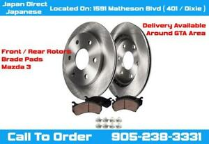 Mazda 3 Front / Rear Brake Pads & Rotors Kit Right / Left 2006 2007 2008 2009 2010 2011 2012 2013 City of Toronto Toronto (GTA) Preview