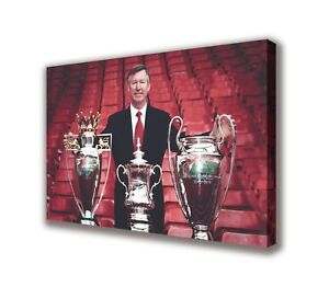 Sir-Alex-Ferguson-Manchester-United-Wall-Canvas-Picture-Print-Art