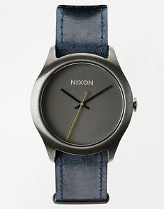 Nixon-Women-039-s-Mod-A4281893-Grey-Leather-Quartz-Watch-nx355