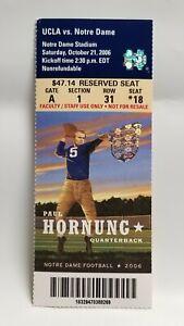 Notre-Dame-Irish-UCLA-2006-Football-Ticket-Stub-Paul-Hornung-Heisman-Winner
