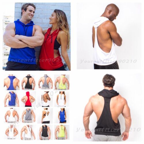 Men/'s Sleeveless Muscle Tank Top T-Shirt Bodybuilding  Gym Fashion Casual Hoodie