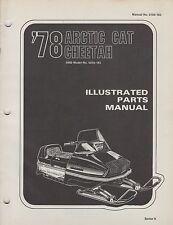 1978 ARCTIC CAT SNOWMOBILE CHEETAH 5000 P/N 0185-103 PARTS MANUAL (058)