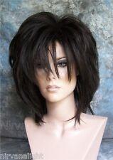 LARGE FIT.. Dark Brown Layered Womans Nirvana Tina Turner Drag? Wig