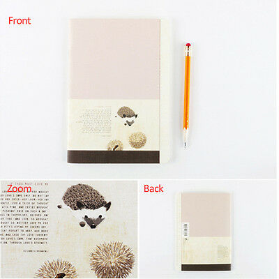 Colorful Paper Lined Notebook Ruled Notepad - Baby Animals Hedgehog Penguin Deer