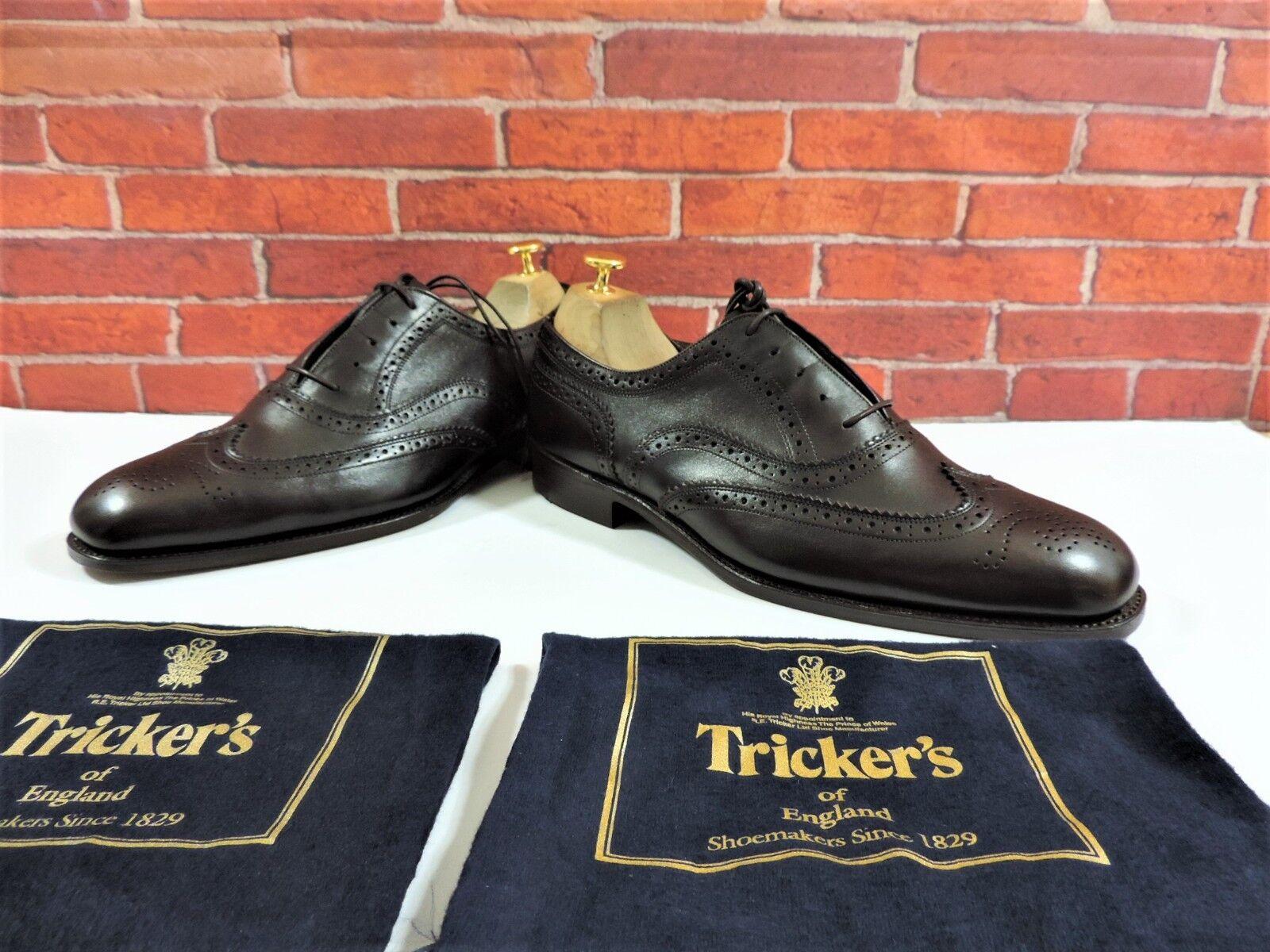 Zapatos casuales salvajes NUEVO Trickers Zapatos Oxford Marrón Oscuro Uk 8 US 9 UE 42 HECHOS EN MESA 5 REG