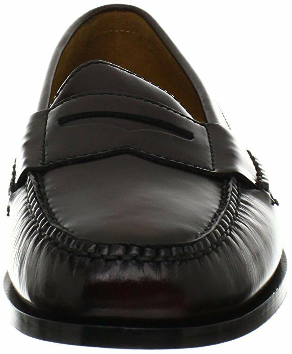 Cole Haan Mens Pinch Penny Moc Toe Slip On 10.5 Casual Loafer Shoes Burgundy 10.5 On 394cac