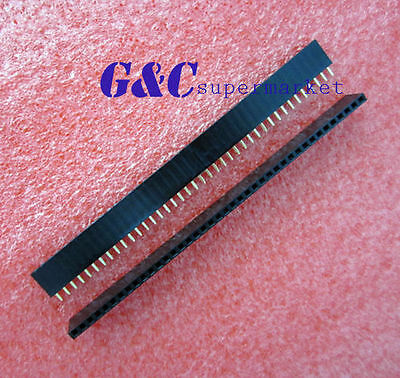 50Pcs 2.54mm 40 Pin Female Single Row Pin Header Strip New GOOD QUALITY