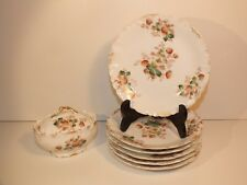 Original service à fraises en porcelaine de Limoges