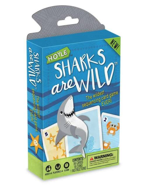 Sharks are Wild Playing Cards - The Wildest Sequencing Card Game - Hoyle USPCC