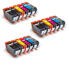 18 PK New Ink Set + Chip for PGI-225 CLI-226 Canon Pixma MG6120 MG6220 MG8120